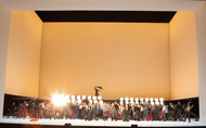 Record number of Robert Juliat Dalis colour the sky for Snégourotchka at the Bolshoi Theatre - Photo © Maria Lopashova
