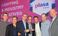 Robert Juliat wins PLASA 2018 Award for Innovation for its unique SpotMe followspot tracking system.