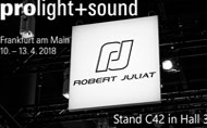 Robert Juliat will be exhibiting at Prolight+Sound 2018 in Hall 3.0 Stand C42