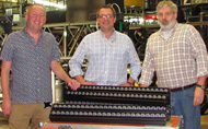 The National Theatre lighting team with their new Robert Juliat Dalis and Cin'k fixtures. Left to right: Paul Hornsby, Lighting Resources Manager, Matt Drury, Head of Lighting and Laurie Clayton, Lyttelton Lighting Supervisor. © Julie Harper